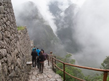 The walk from Sungate to Machu Picchu was not looking good.