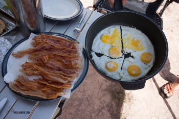 Caming breakfast in Venezuela. Times were tough.