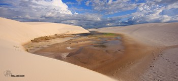 north east brazil dunes with water pools