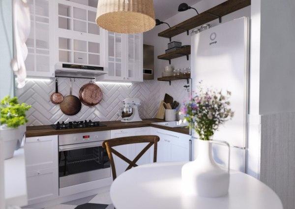 Кухонный гарнитур для маленькой кухни. Угловые кухни: фото ...