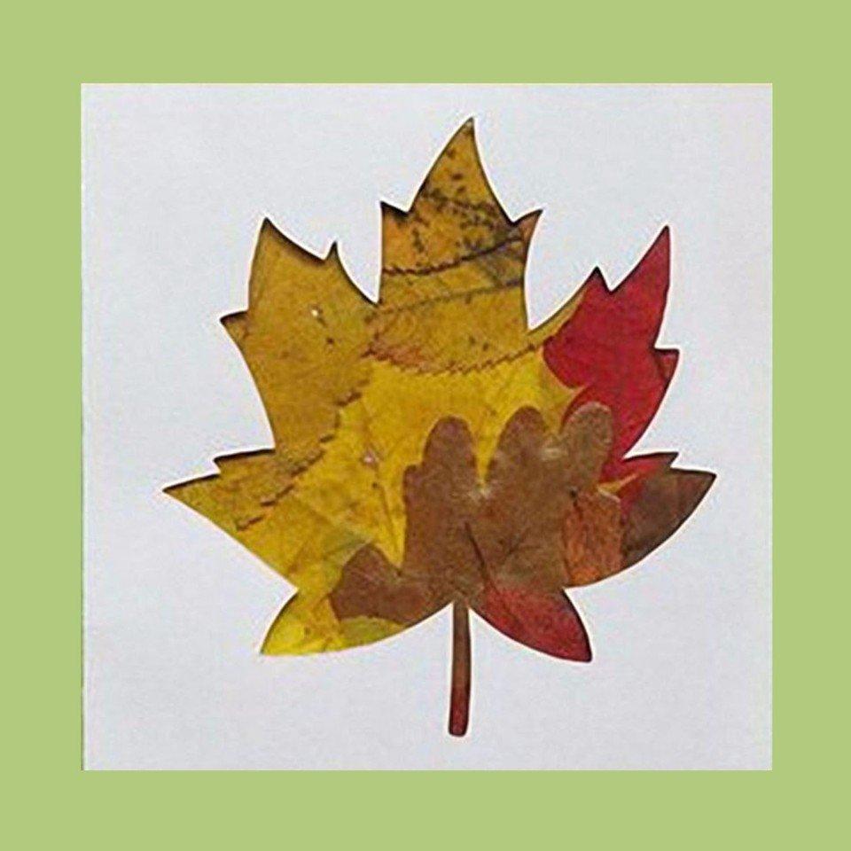 Открытка с кленовым листом своими руками