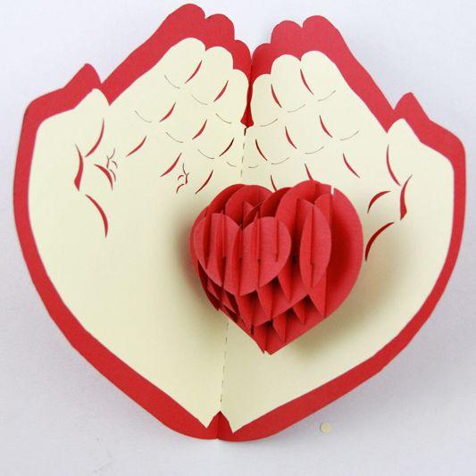 Поздравление, открытки сердечко в руке