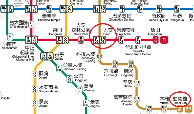 台北-電車-地図