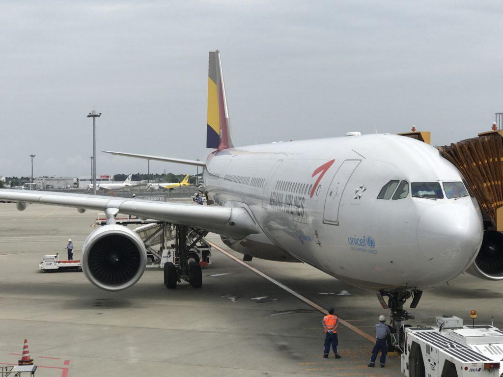 韓国 機内食 アシアナ航空