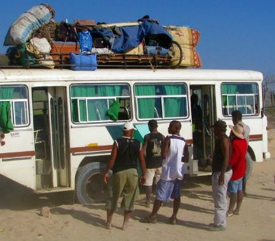 travel by bus In Madagascar