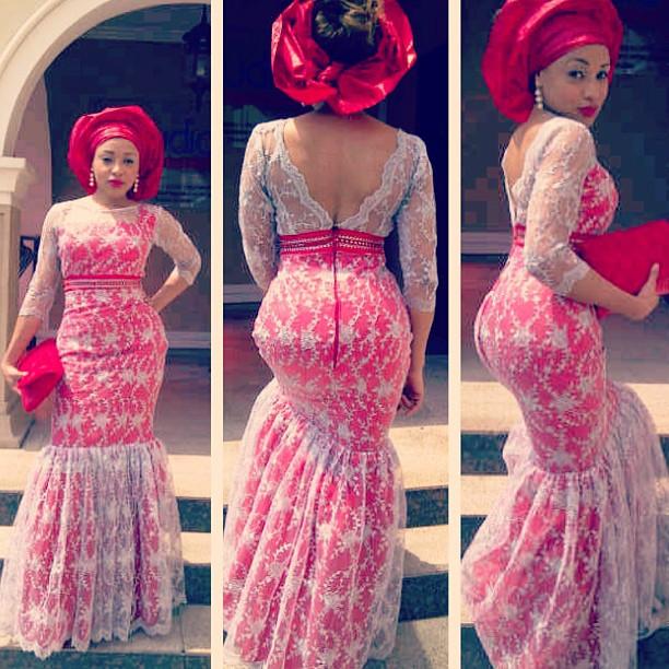 mixed lace dress - afrikanza