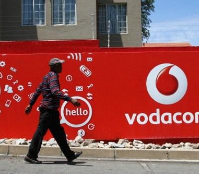 share acquisition - 160232989 Vodacom billboard in Johannesburg. Photo: Nadine Hutton/Bloomberg/Getty
