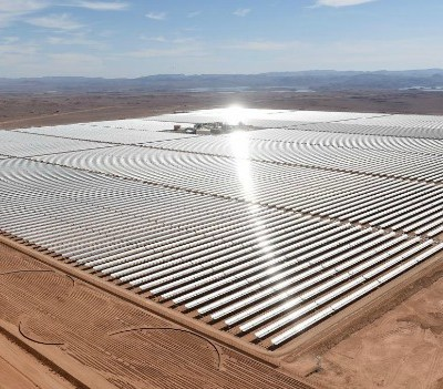 concentrated solar power plant
