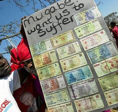 currency protest