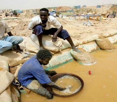 African gold production