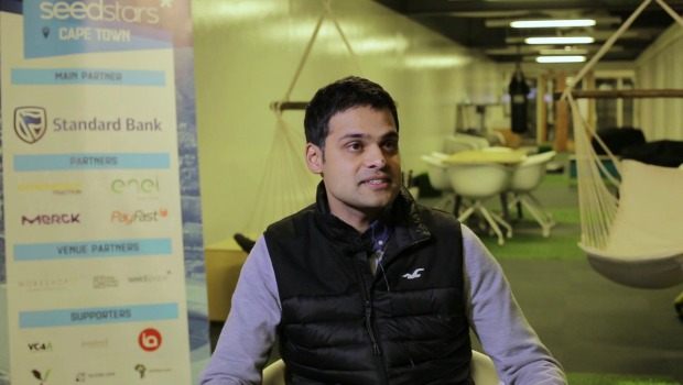 Dr Khan, CEO and co-founder of South African medical tech startup, EMGuidance. Photo - Twitter