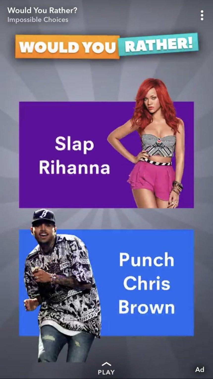 Slap Rihanna