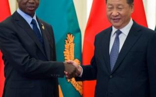 Zambia's president Edgar Lungu and China's president Xi Jinping. Photo - Nicolas Asfouri via AP