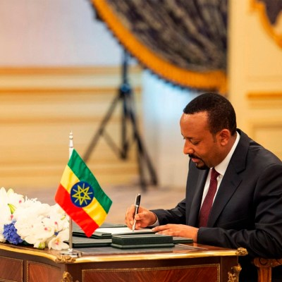 Abiy Ahmed mobile phone monopoly nobel peace prize