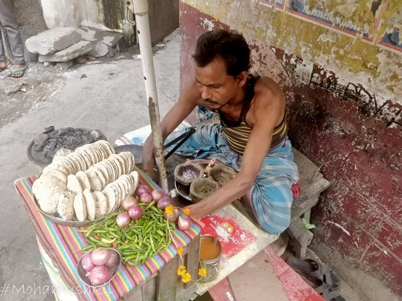 Litti at Central Kolkata