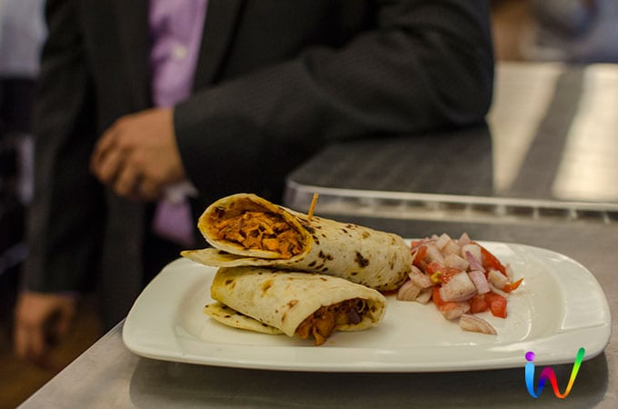 Chilly chicken wrap
