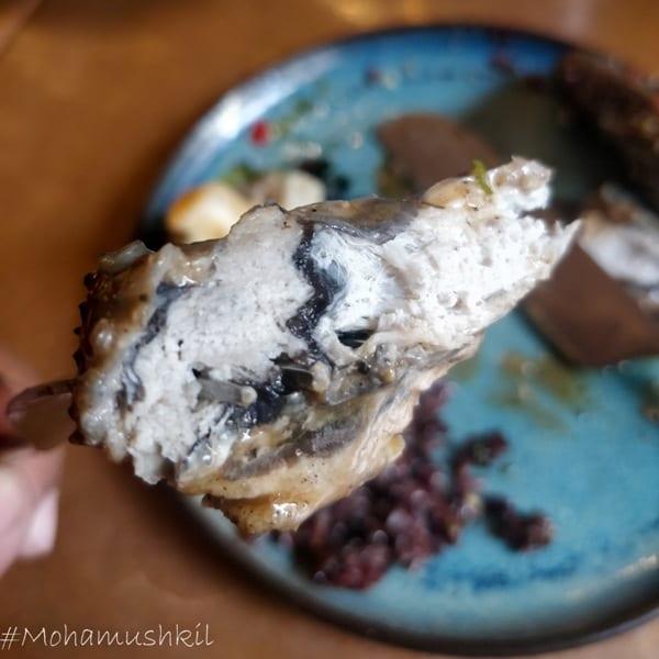 Kadaknath chicken with black rice