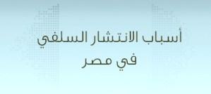 أسباب الانتشار السلفي في مصر