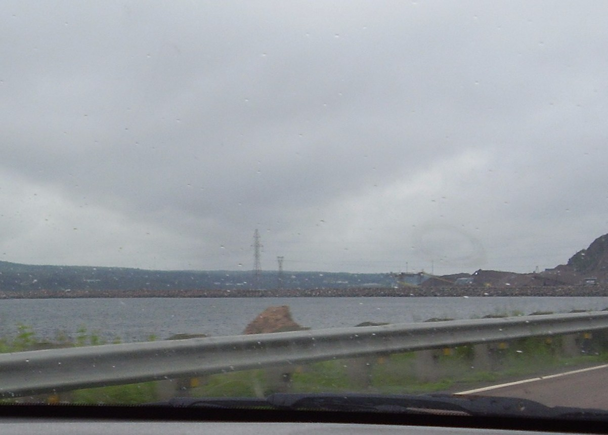 Approaching the Canso Causeway