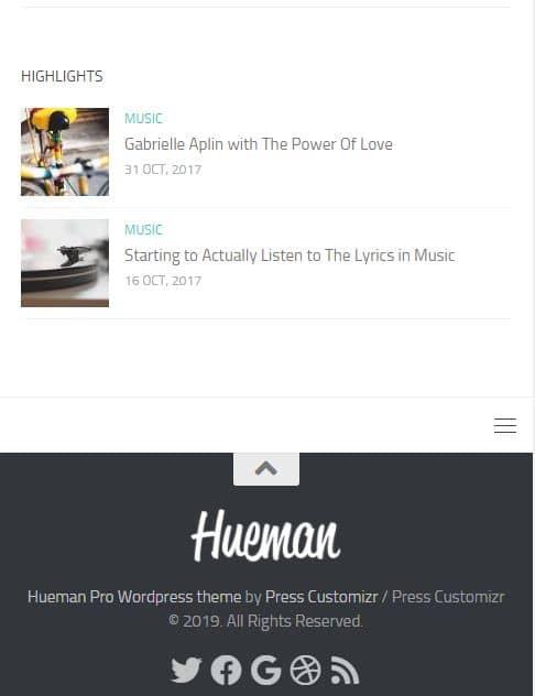 Hueman Theme Review Best WordPress Theme mobile device