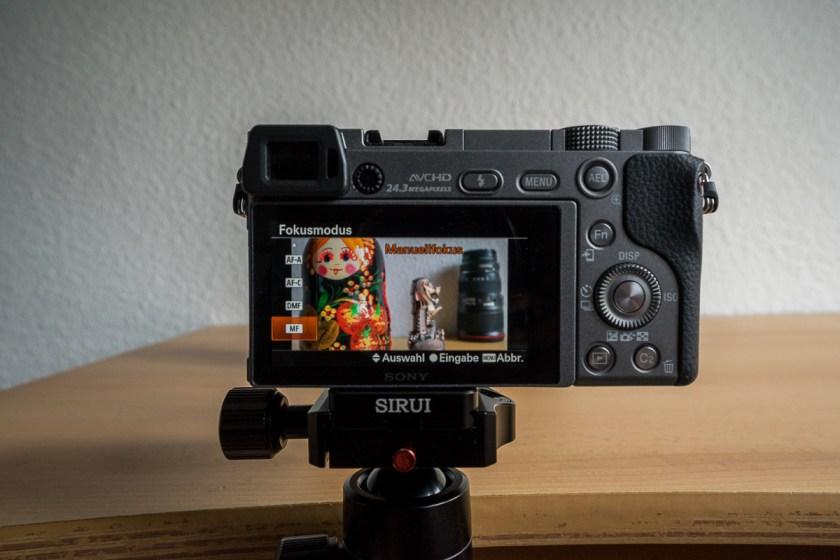 Manuelles Fokussieren Sony A6000 und A7 Reihe: Manuellen Fokus einstellen