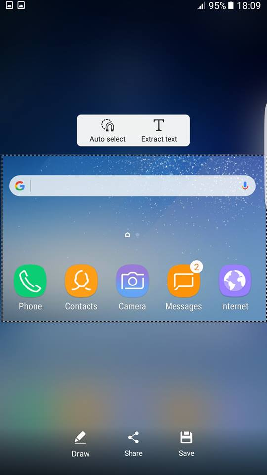 Galaxy S8 smart select