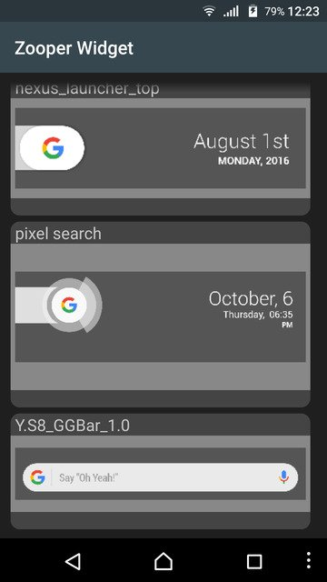 Samsung Galaxy S8 Google Search Bar