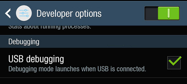 Enable USB Debugging In Samsung