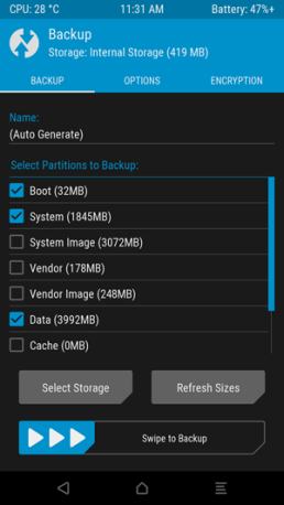TWRP software backup 2