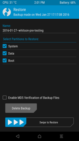 TWRP software restore 2
