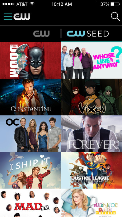 The CW Network app 17