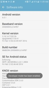 developer mode has been enabled oneplus 5