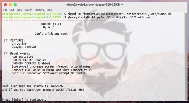 عمل روت هواتف أندرويد لمستخدمين نظام لينكس