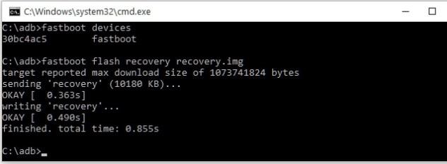 fastboot flash recovery Mohamedovic