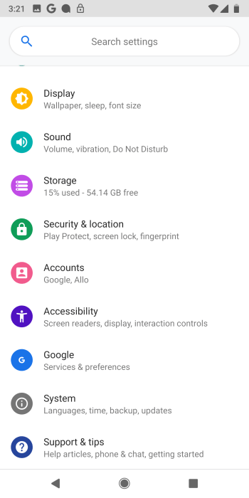Android P Developer Preview 1 Settings App Colors Mohamedovic 02