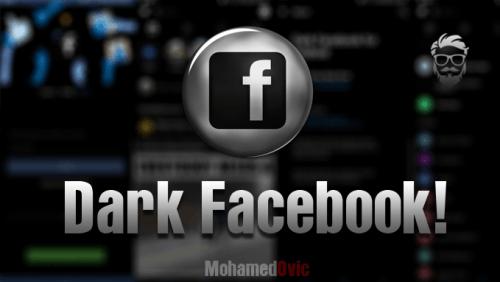 تفعيل اللون الاسود في الفيسبوك 2019