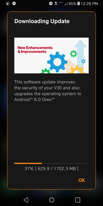 LG V30 Official Android 8.0 Oreo Firmware update Mohamedovic 03