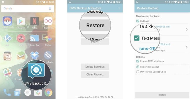 Restore Android SMS Messeges with SMS Backup app Mohamedovic 02
