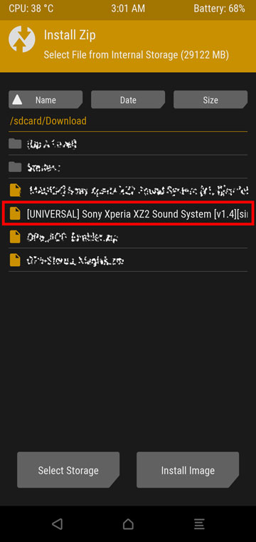 Flash Sony Sound Port on your Android Device with TWRP Mohamedovic 02