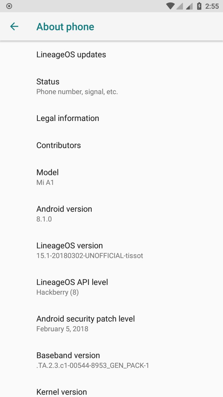 LineageOS 15.1 Based Oreo 8.1 ROM for Xiaomi Mi A1 Mohamedovic 02