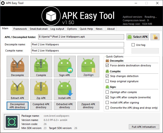 Decompile APK Files using APK Easy Tool Mohamedovic 05