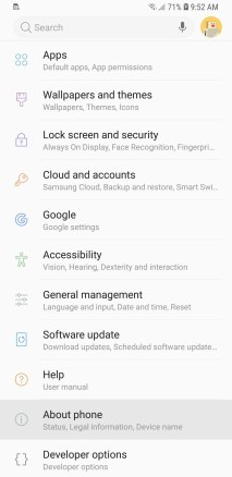 Galaxy S9 Developer Options Mohamedovic 01