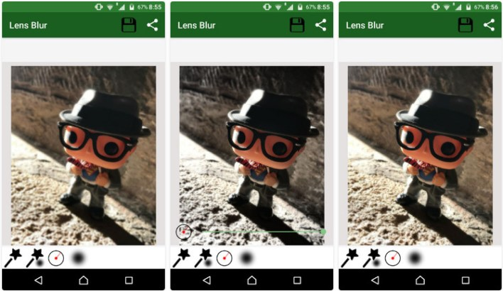 تطبيق Lens Blur