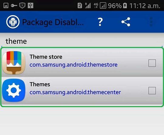 Disable Samsung Theme App