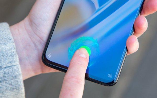Samsung Galalxy S10 fingerprint on display