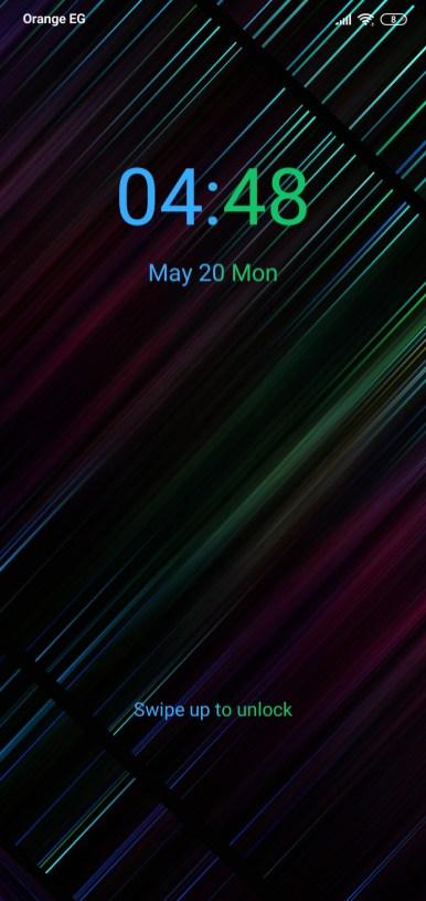 واجهة القفل لثيم Neon 999