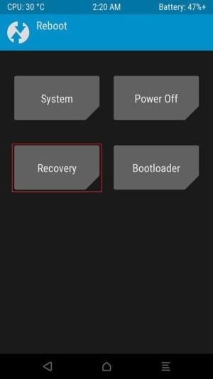 الخطوة الثامنة في خطوات تثبيت ريكفري TWRP علي هاتف وان بلاس 7 برو