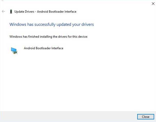 Manually Install Xiaomi USB Drivers Installation Successful