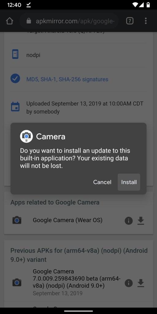 تحميل تطبيق Google Camera 7.0 (من هاتف Pixel 4) | لجميع هواتف بيكسل 11