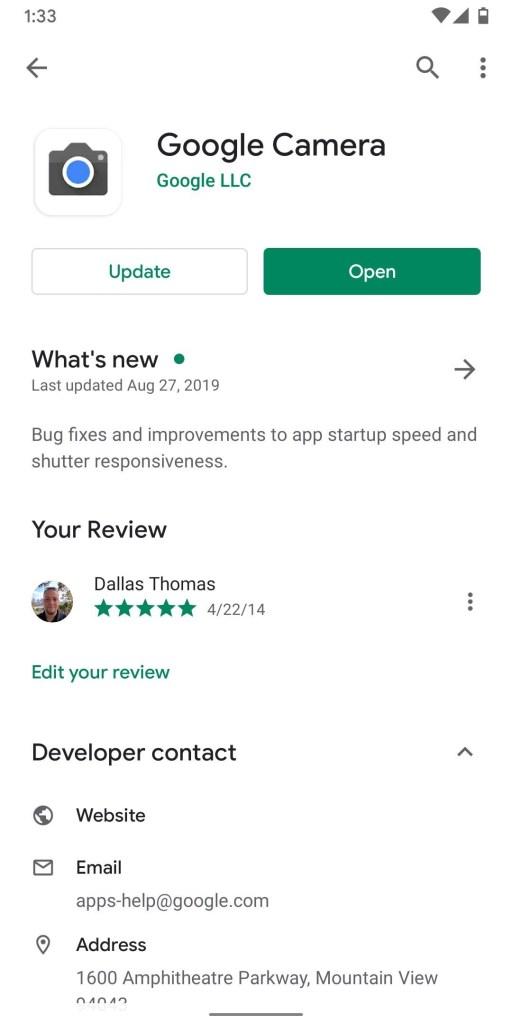 تحميل تطبيق Google Camera 7.0 (من هاتف Pixel 4) | لجميع هواتف بيكسل 18